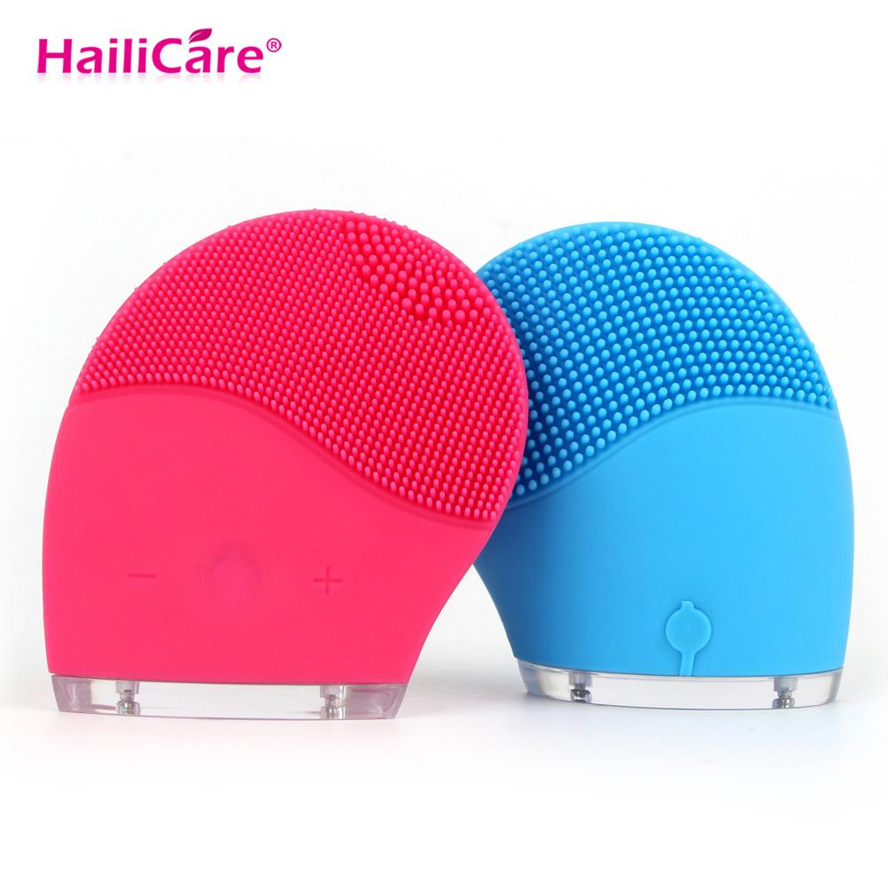 Facial Cleaning Massage Brush Skin Face Care Mini Electric Washing Machine Waterproof Silicone Cleanser Dirt Remove Relaxation