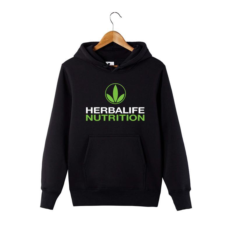 허벌 라이프의 영양 인쇄 까마귀 남성 여성 녹색 허벌 라이프 그래픽 후드 티 Sweatershirt
