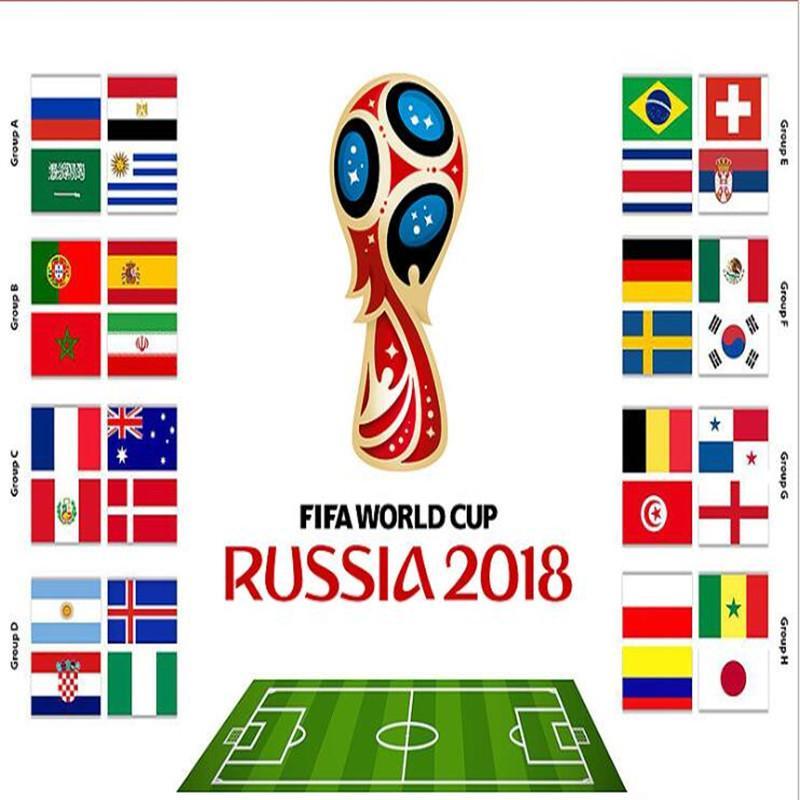 Grosshandel Handheld Flags Souvenir 2018 Fussball Wm 32 Lander Kleine Hand Waving Nationalmannschaft Flagge 14 21 Cm Fussball Banner Fans Geschenk Von