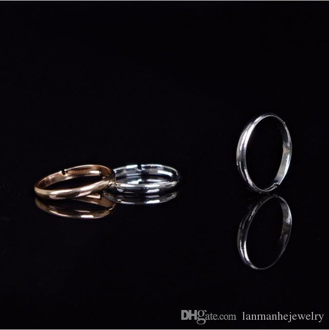 Anillos de joyería de moda las mujeres de alta calidad de oro / plata aleación plateada brillante círculo de los anillos del dedo del pie ajustable joyería