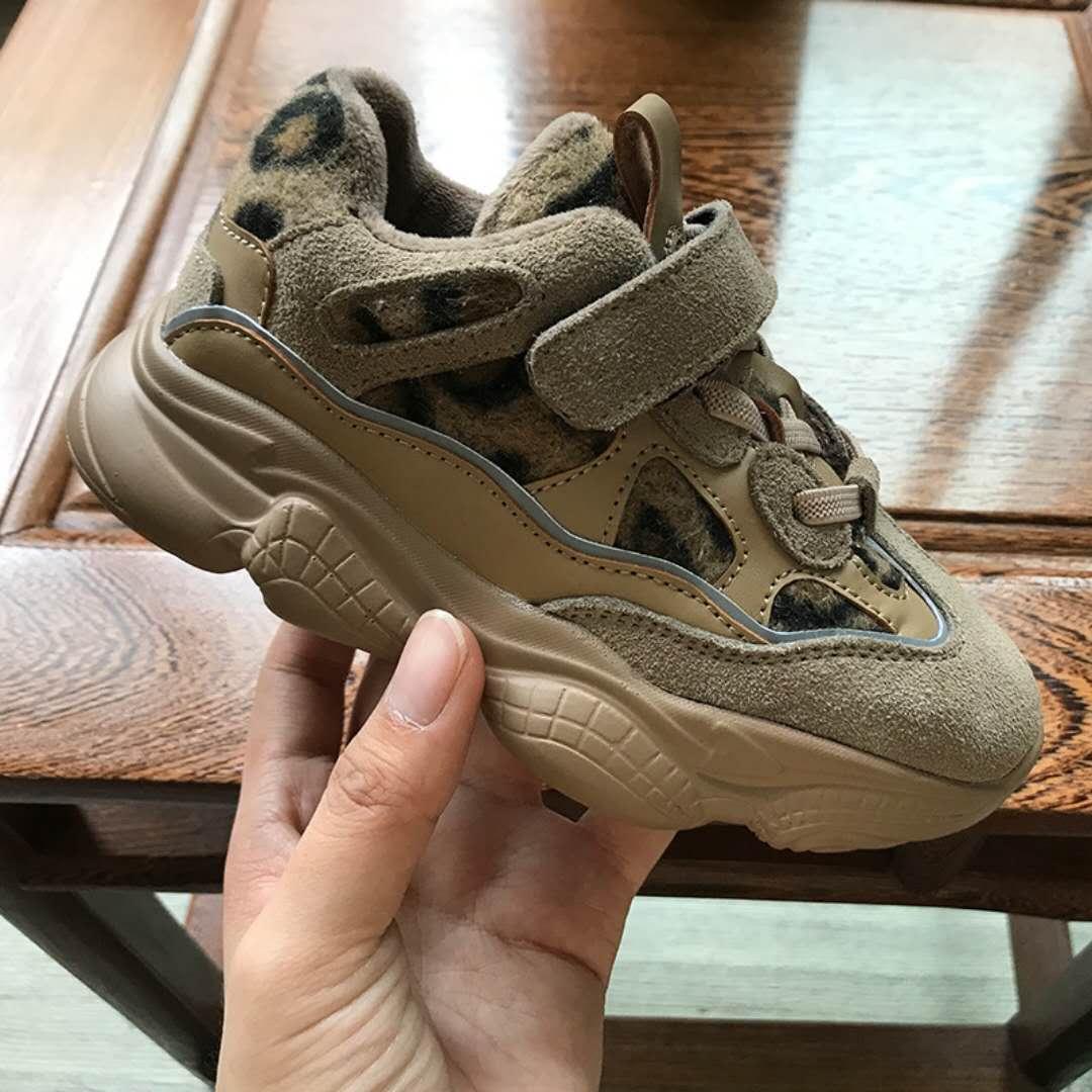 d11e7de46e31 ... baby leopard kid shoe 5-16 years dress winter cotton sneaker shoe for boy  girl ...