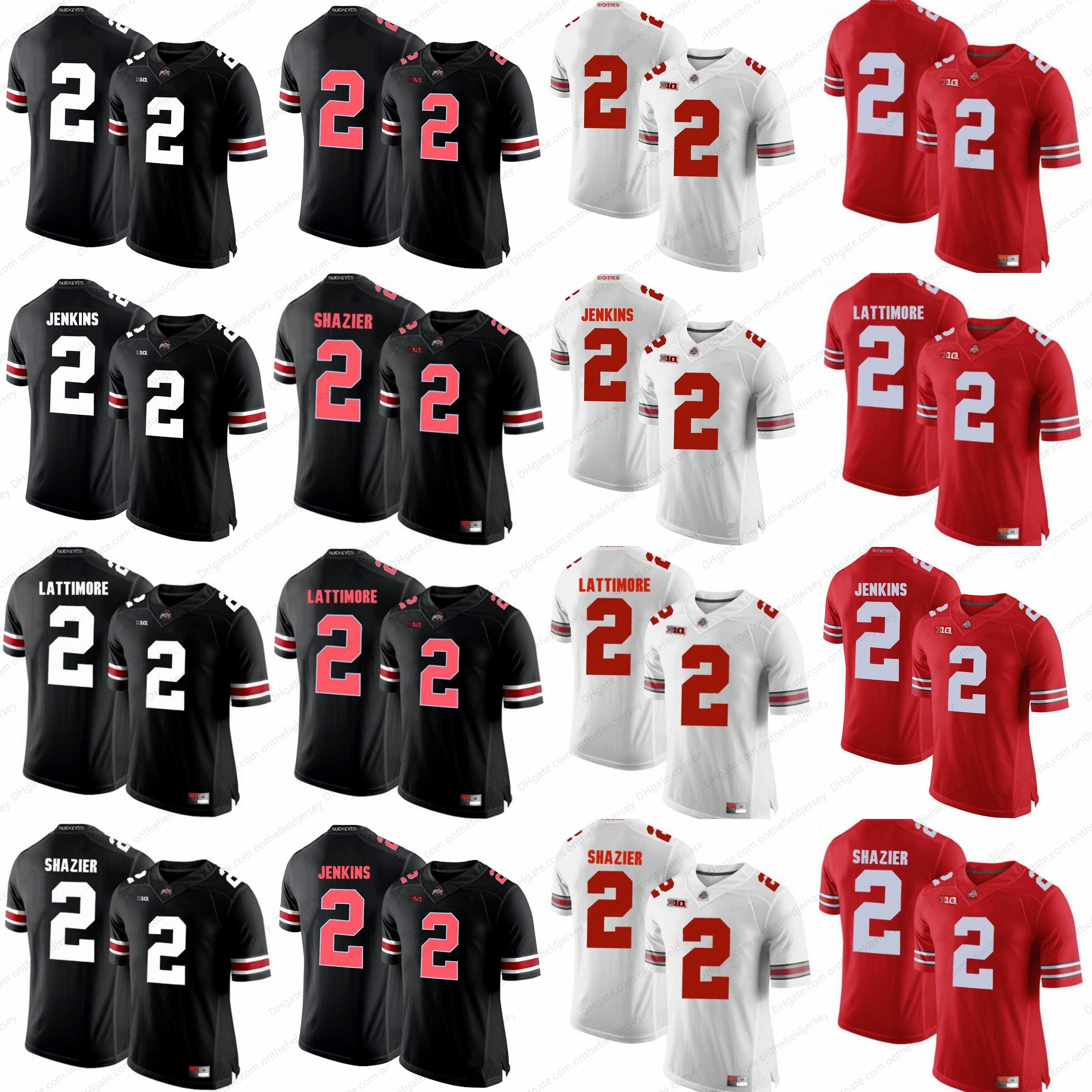 best sneakers 447c7 8425d 2018 Ncaa Ohio State Buckeyes #2 Ryan Shazier #2 Malcolm Jenkins 2 Marshon  Lattimore 2 Cris Carter 2 Terrelle Pryor College Football Jersey S 3xl From  ...