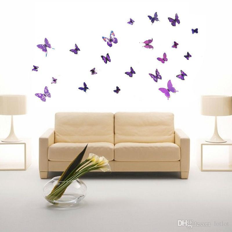Autoadesivi della parete delle autoadesivi della parete 3D di 12PCS per la stanza vivente della decorazione della stanza del letto dei bambini Decorazione della parete del manifesto di DIY del PVC