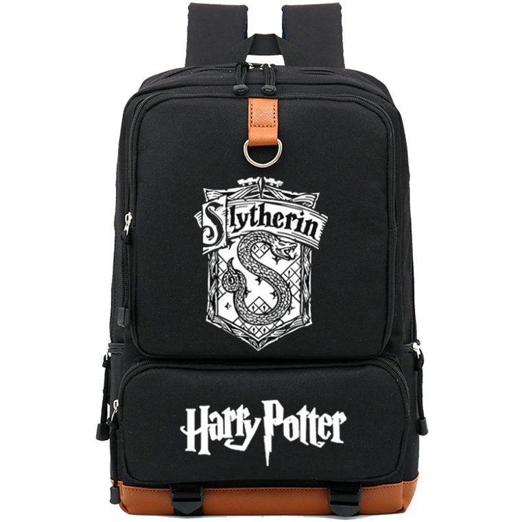 Mochila de Slytherin Mochila de serpiente mágica de Hogwarts Mochila de Harry Potter Mochila de ocio Mochila de deporte Mochila de día al aire libre