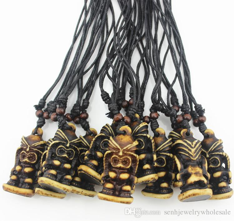Wholesale Fashion Jewelry Wholesale Cool 3d Tiki Necklace Totem Simulation Bone Carved Hawaiian Brown Totem Tiki Men Pendant Necklace Gifts Photo Pendant Necklace Pendant Necklaces For Women From Senhjewelrywholesale 9 99 Dhgate Com