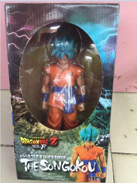 Toy gift model new youth gift anime Qilongzhu Group vertical Wukong Blue hair yellow hair Saiyan Optional boxed hand