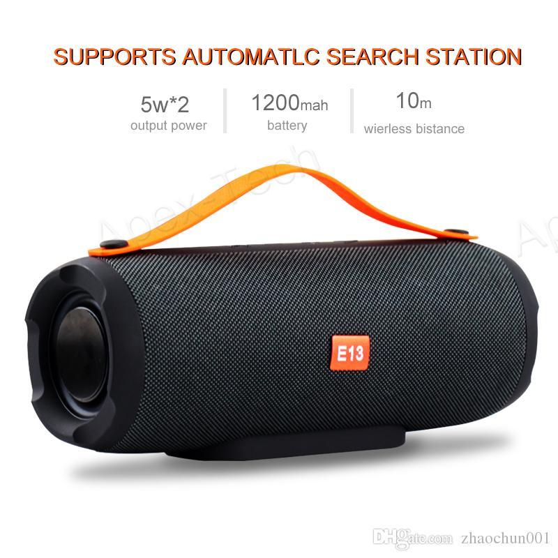 E13 Mini Tragbarer Drahtloser Bluetooth Lautsprecher Stereo Freisprecheinrichtung Radio Musik Subwoofer Säulenlautsprecher für Computer mit TF FM