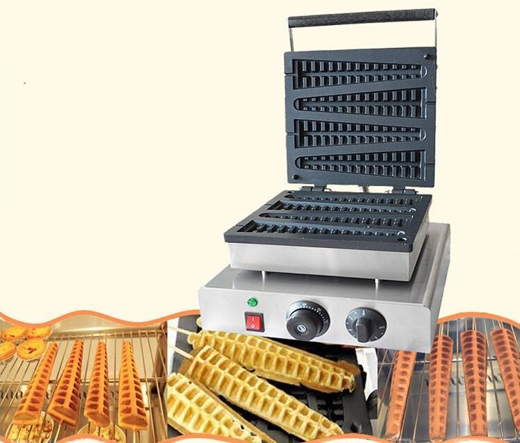 Ücretsiz kargo Elektrikli 4 ADET Lolly Waffle Makineleri 220 V / 110 V Noel Ağacı Waffle Makinesi Çam Çıtır Makinesi LLFA