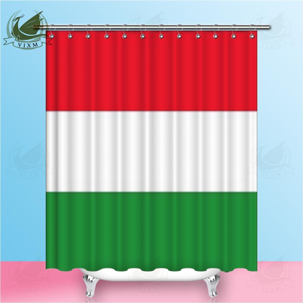 Vixm Feliz Ano Novo Hungria Bandeira de ondulação Snowflake Background Poliban tecido de poliéster cortinas para Home Decor