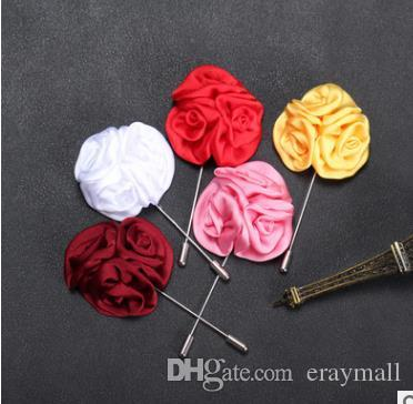 Rose flowers brooches pins three rose floral bouquet corsages for wedding party birthday gifts many colors
