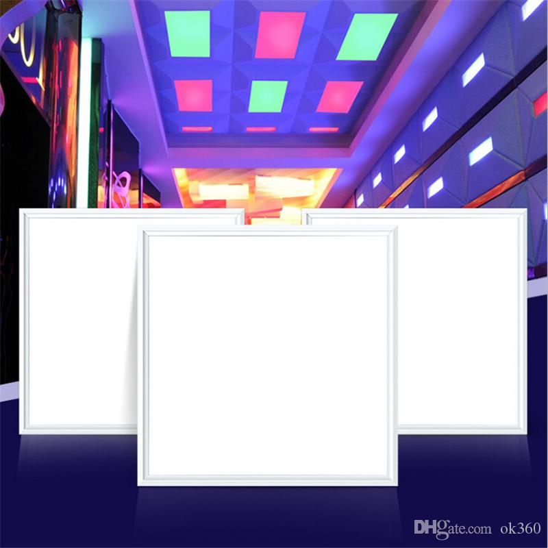 official photos 4b453 dfe31 2019 New RGB LED Panel Lights 18W 36W 60W LED Ceiling Panels 600x600mm  300x1200 300x300 2x4ft Embeded Suspending Lighting Lamp With IR Remote From  ...