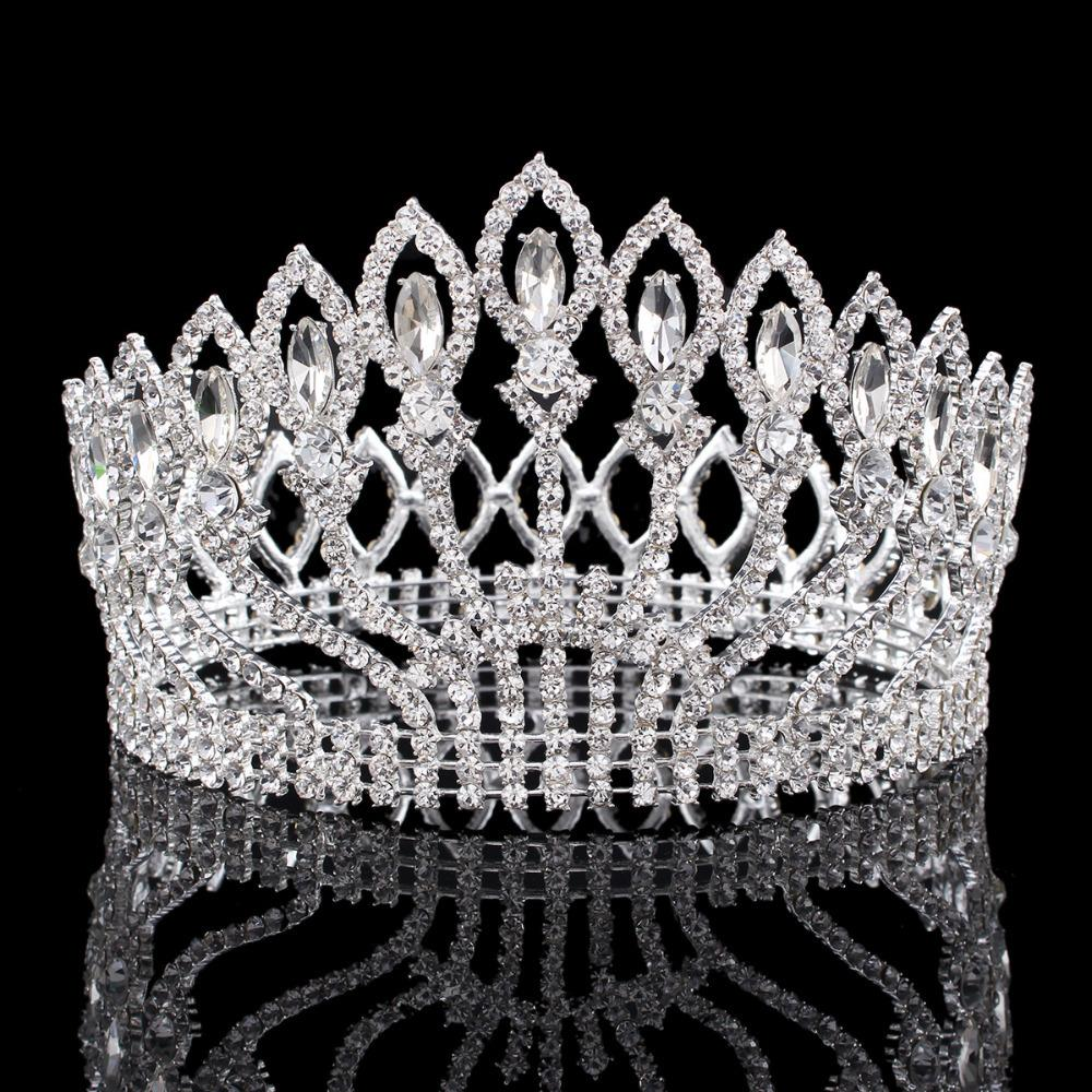Bling Hochzeit Braut Prinzessin Crystal Strass Prom Hair Tiara Krone Stirnband
