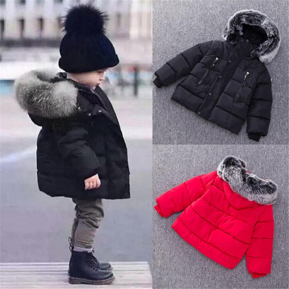 Brandneu f992b 04786 Großhandel Neue Kinder Daunenjacke Winter Warme Jacken Mit Fell Jungen  Mädchen Solide Mantel Mit Kapuze Winterjacke Kind Kleidung Mantel Von ...