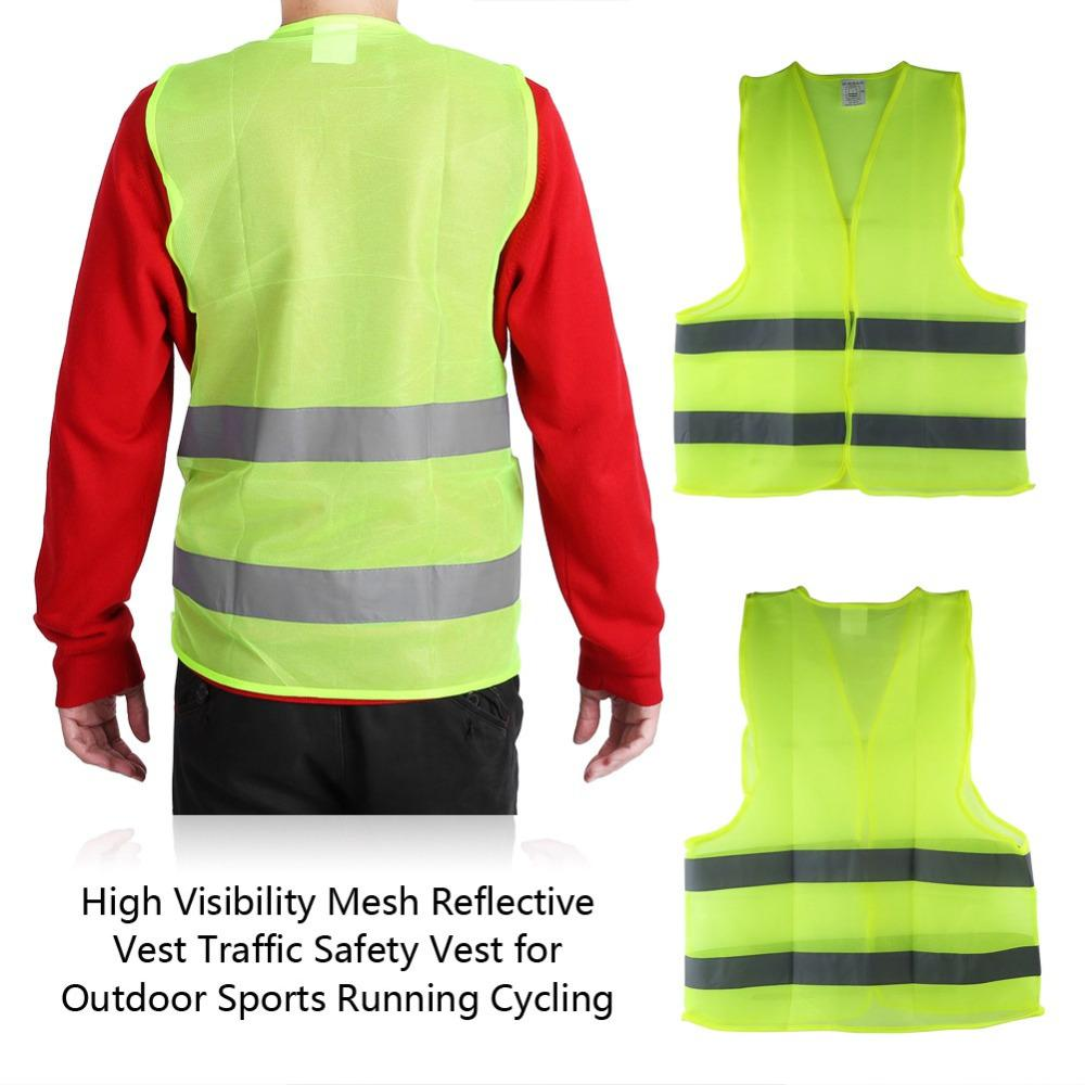 High Visibility Reflective Safety Vest Adjustable for Outdoor Sports Running USA
