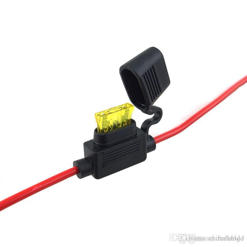 Auto In-Line Mini Blade Sicherungshalter Halter Hülle 12V mit 5A~30A Sicherungen