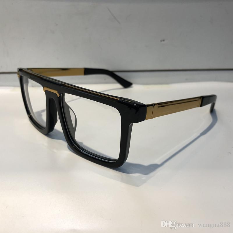 Luxus 0078 Gläser für Männer Mode Marke Design Populäre Aushöhlen Optische Linse Katze Eye Full Frame Black Tortoise Silber Kommen Sie mit Paket