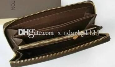 Brand new men and women holding a purse single zipper banknotes folder card wallet no box 4 color hot selling