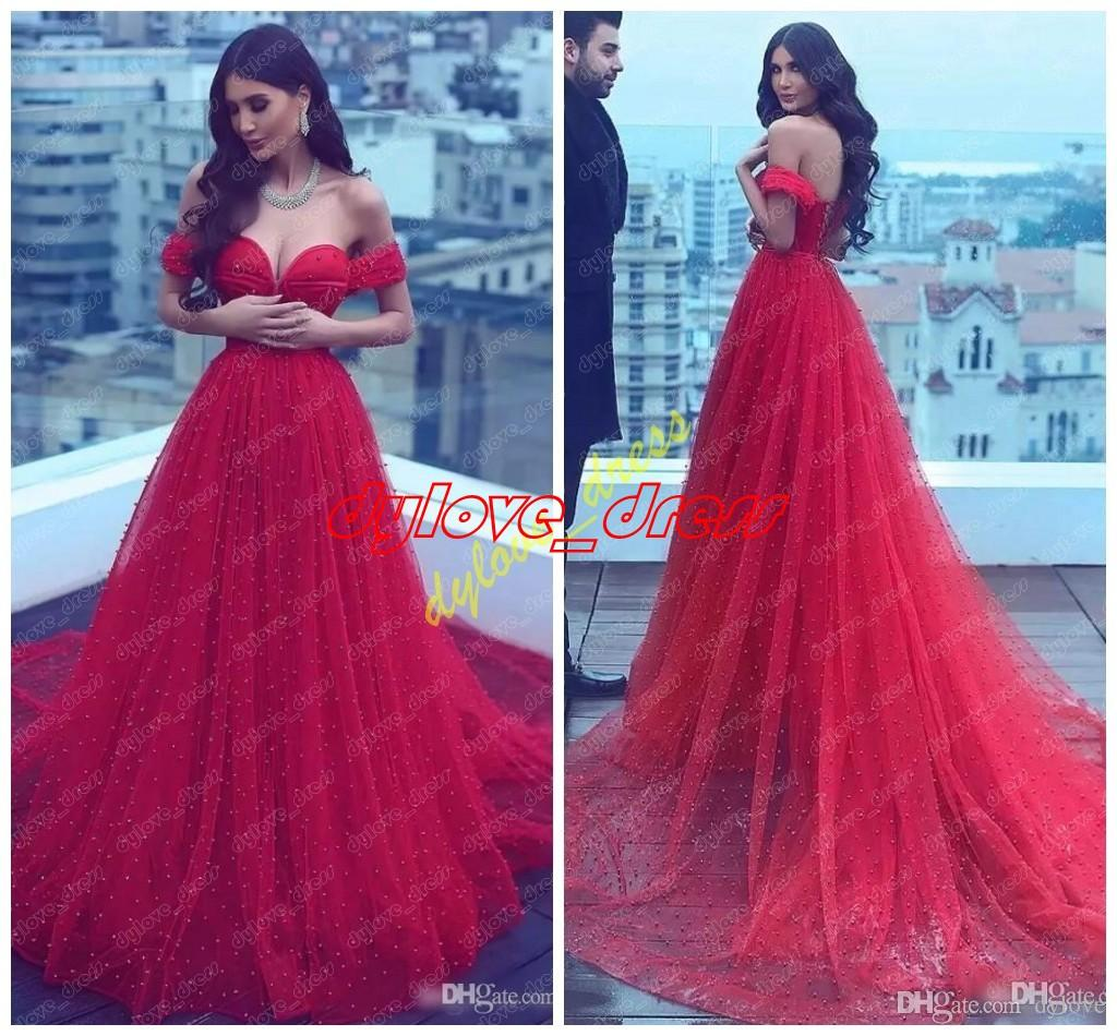 plus la taille des robes de bal robes de soirée arabes robe rouge 2018 sexy une ligne robes de soirée robe de soirée col v