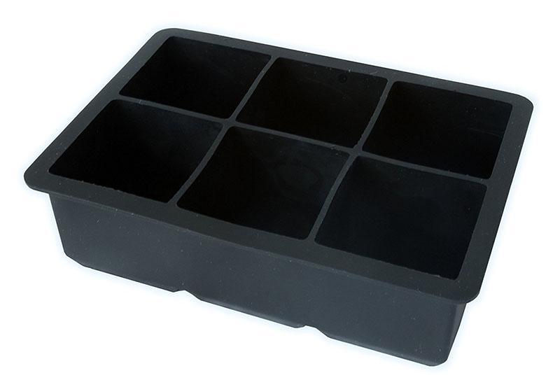 El nuevo diseño 1pcs Cubo tapa del molde de silicona del molde de hielo 6 Plaza de helado con tapa de silicona Forma del cubo de hielo bandeja 6 partido de la barra Cubos bebida