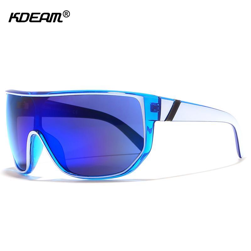 KDEAM Happy Oversized Männer Sonnenbrille Mit Designer Box Mode Große Sonnenbrille Frauen antejojos de sol UV400