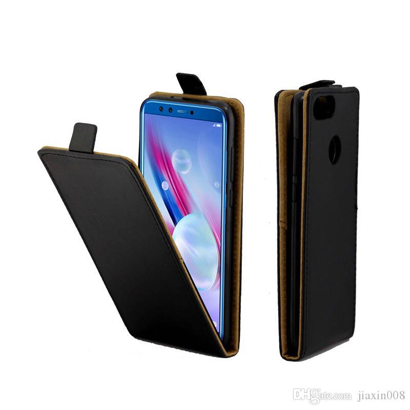 Biznesowe skórzane etui na telefon komórkowy dla Coque Honor Honor 9 Lite Pionowe Flip Cover Card Slot Case