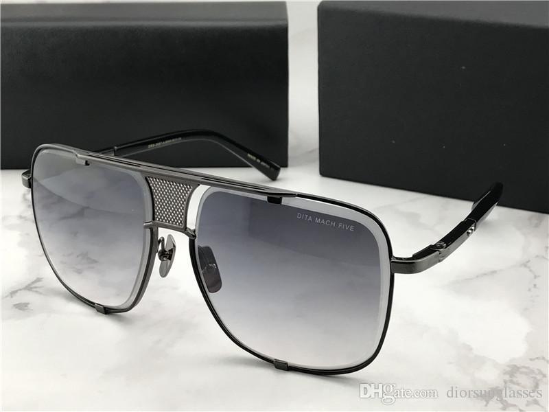 Paket Ücretsiz Kargo Güneş Gözlükleri Güneş gözlüğü 2018 Yeni Yaz NUMD180621-8 için olan kadınlar / Erkek Brown için 2018 Güneş Gözlüğü