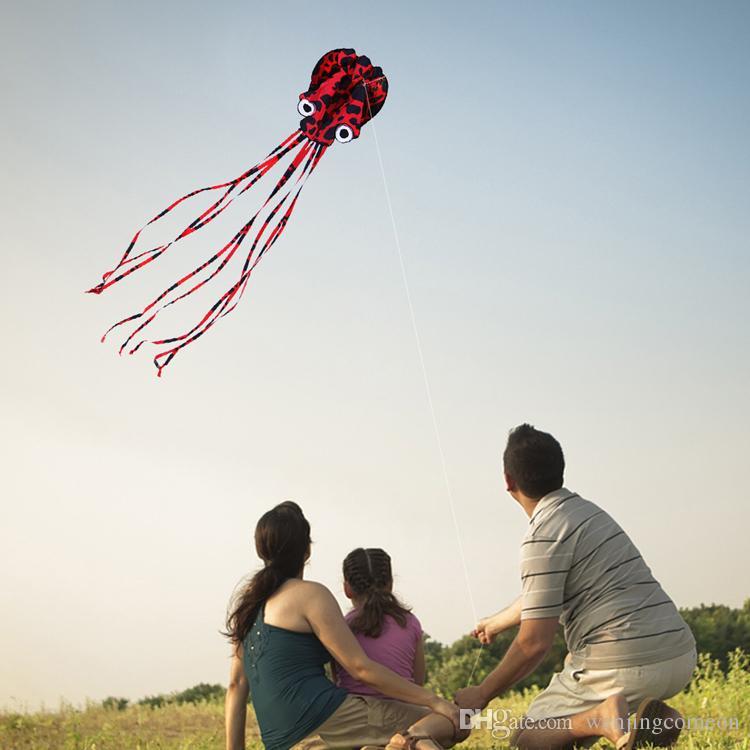 Новый Hi-Q Hotsell 4 м Octopus Single Line Stunt / Software Power Kite с летающими инструментами Надувные и легко летающие Оптовая продажа