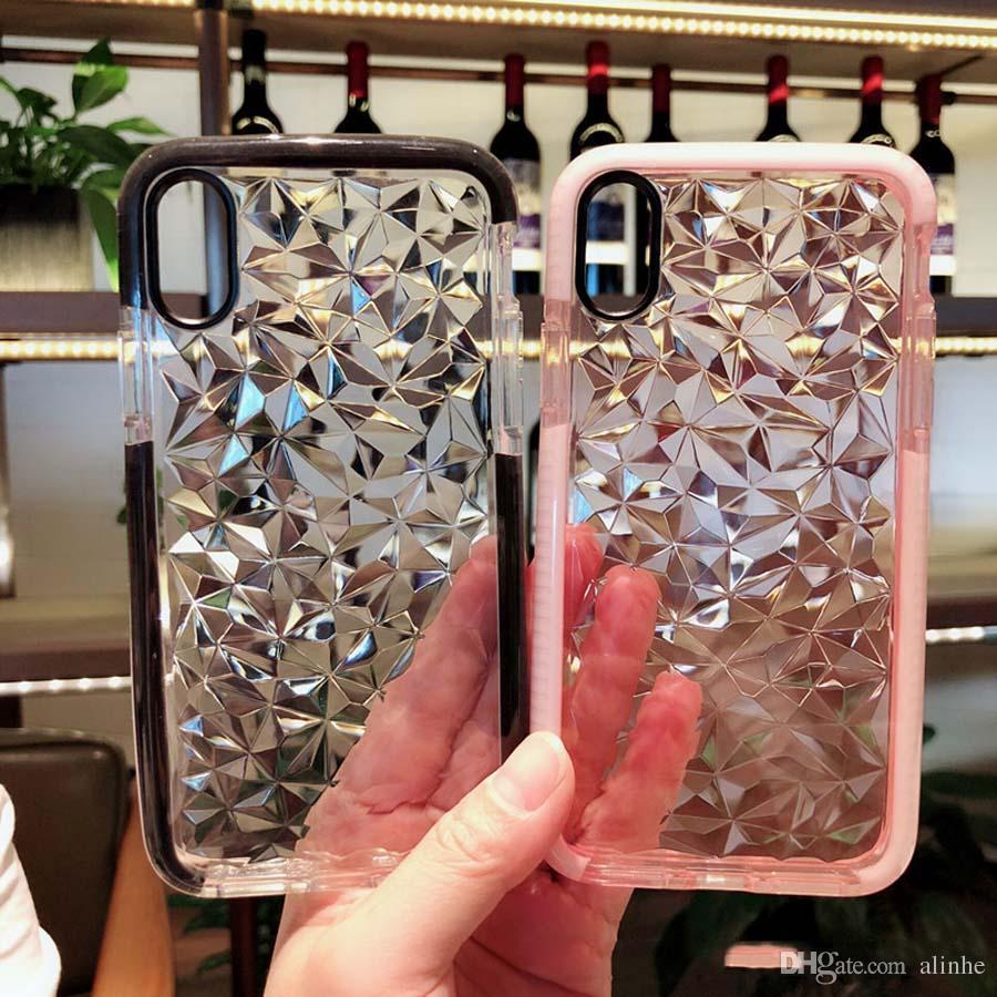 Для iphone 6 6 S 7 8 X плюс прозрачный алмаз у берега серии анти-падение мобильного телефона задняя крышка телефона чехол DHL Бесплатная доставка