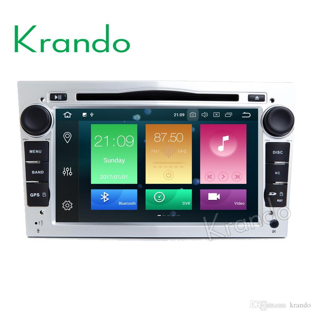 Krando Android 8.0 7'' 32GB ROM car dvd radio for OPEL Astra H Corsa Vivaro Meriva Zafira B Omega Tigra Quad player gps navigation