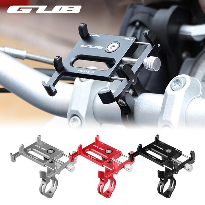 Gub 7 farben fahrrad handyhalter 360 grad-umdrehung aluminium mtb fahrrad smartphone stehen lenker halterung ständer für iphone 6 7 8 c18110801