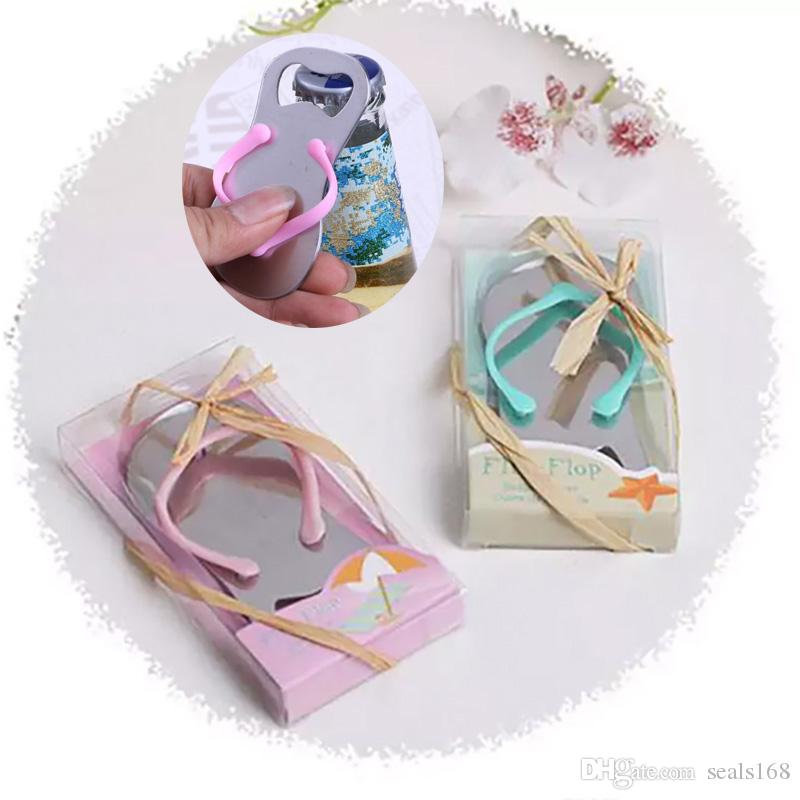 Sandal Bottle Opener Wedding Flip Flop Bottler Openers Beach Themed Party Giveaways For Guest Wedding Party Favor Gifts HH7-1699