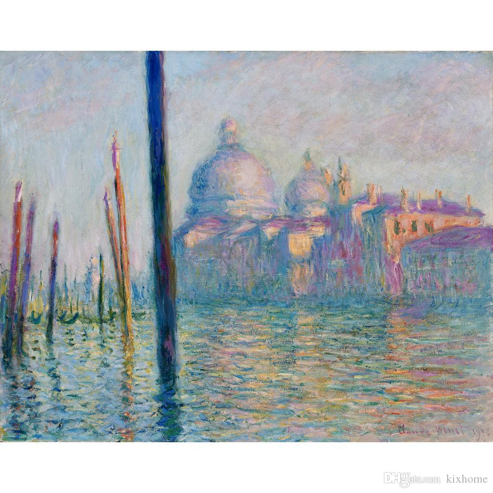 Canvas art Hand painted oil paintings by Claude Monet The Grand Canal in Venice painting for wall decor
