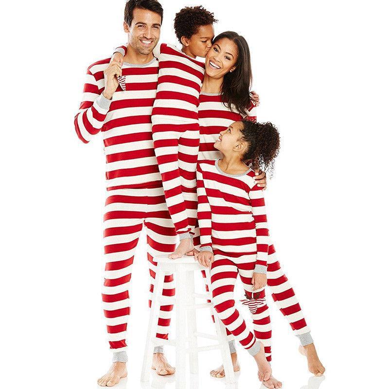 Família Pijamas Mãe Pai Filho Filha Criança Bebê Roupas Família Combinando Roupas Pijama Vermelho Algodão Pijama Set Family Look