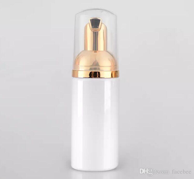 Frasco de formação de espuma branco 50ml de espuma frasco de formação de sabão de ouro bomba dispensador de plástico