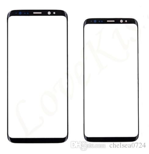 50pcs/lot By DHL Touch panel Replacement For Samsung Galaxy S8 G950 G950F / S8 + plus G955 black Front Outer Glass Lens