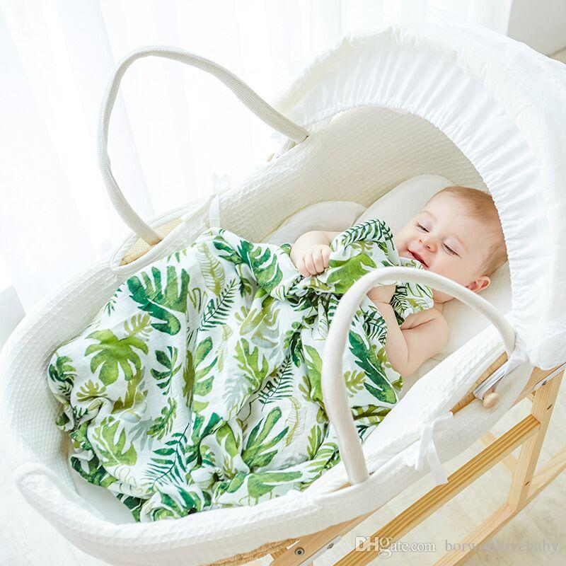 120*120cm Bamboo Cotton Baby Blanket bamboo cotton Bath towel Ins Flamingo Swaddle Blankets Functions Baby Swaddle Blanket