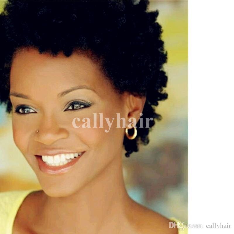 Pixie None Lace Front Perruques De Cheveux Humains Avec Une Bangs de Cheveux Humains Bob Perruques Pour Femmes Noires Court
