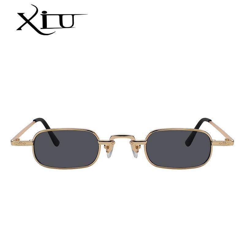 2896885f2ed4 XIU 2018 Vintage Sunglasses Women Men Rectangle Glasses Brand Designer  Small Retro Shades Yellow Pink Sunnies Sunglasses Reading Glasses  Prescription ...