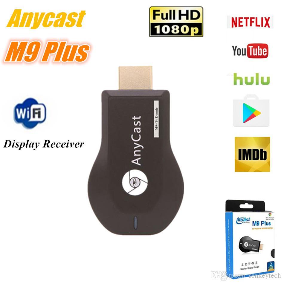 Anycast M9 Plus Wireless WiFi عرض دونغل استقبال RK3036 ثنائي النواة 1080P TV عصا العمل مع Google Home و Chrome YouTube Netflix