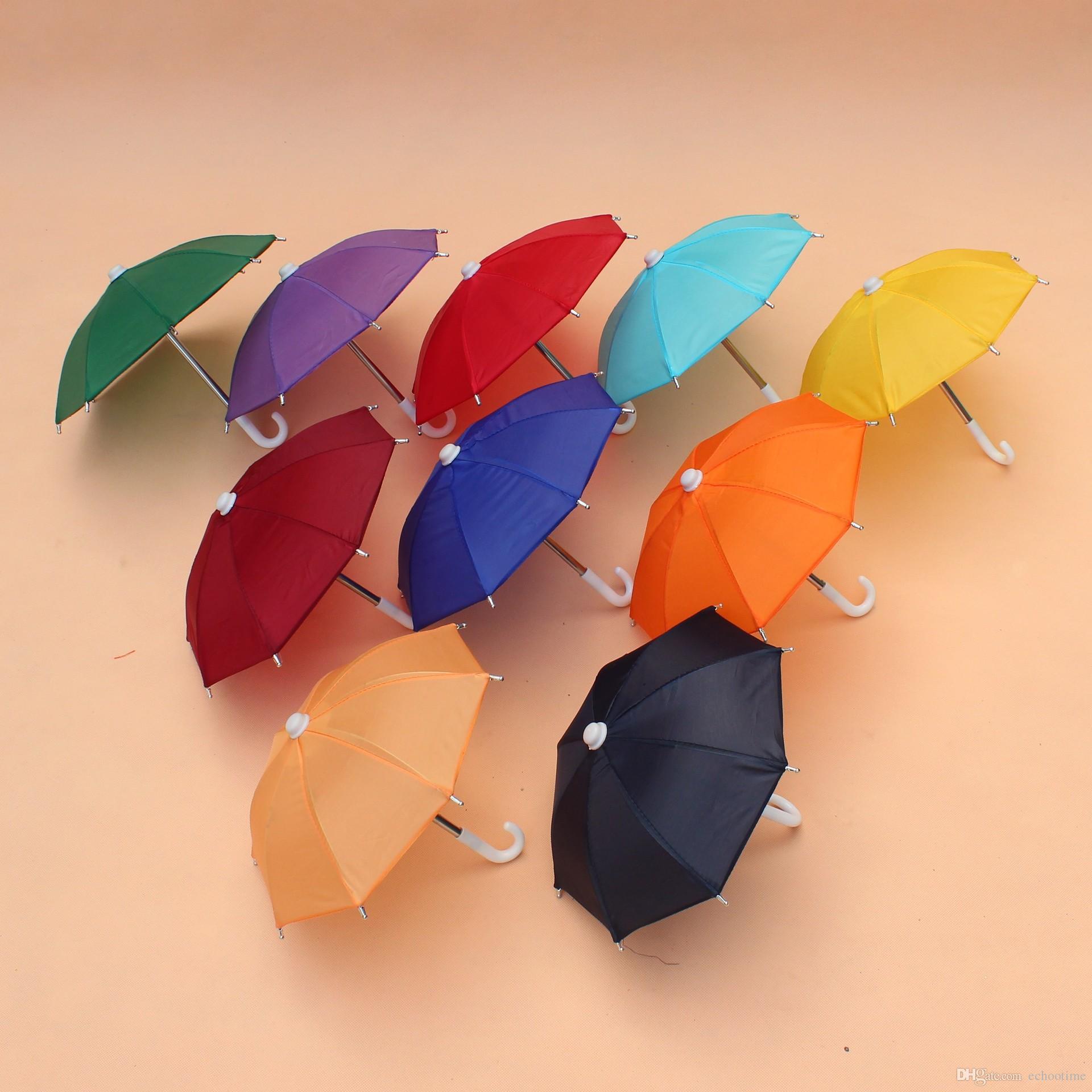 500 stücke Mini Simulation Regenschirm Für Kinder Spielzeug Cartoon Viele Farbe Regenschirme Dekorative Fotografie Requisiten Tragbare Und Licht