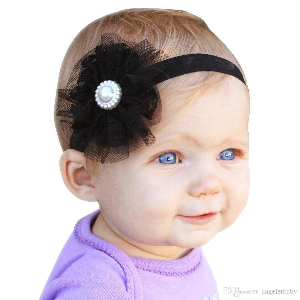 Baby Girls beautiful Flower Headbands Elastic Headband Children Hair Accessories Headwear Photography 20pcs Per Lot H045