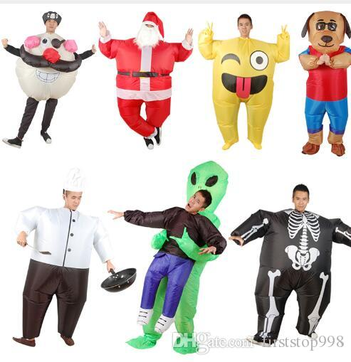 17 Style Newest Inflatble Toys Oktoberfest Halloween Christmas Make-up Party Cosplay Clothes For Adult Santa Claus Costume