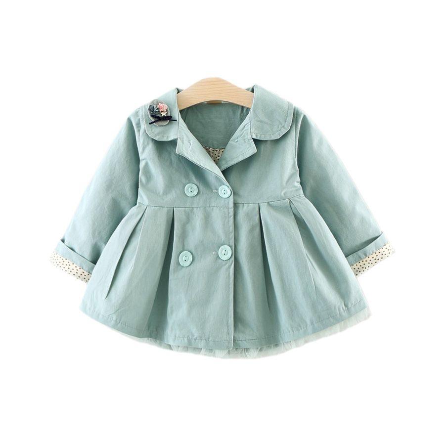 Süße Kausal Baby Mädchen Trenchcoat Feste Stickerei Europäischen Stil Mantel für 6-24m Baby Neugeborene Infant Oberbekleidung Mantel Kleidung heiß
