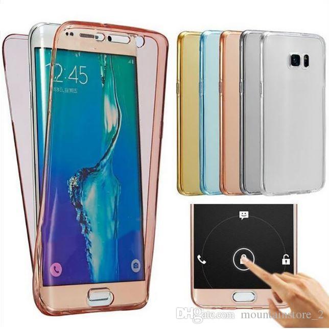 360 Tam vücut Yumuşak Silikon TPU kılıf Samsung Galaxy S8 Artı S3 S4 S5 S6 S7 Kenar A3 A5 A7 2018 Pro telefon Kılıfları