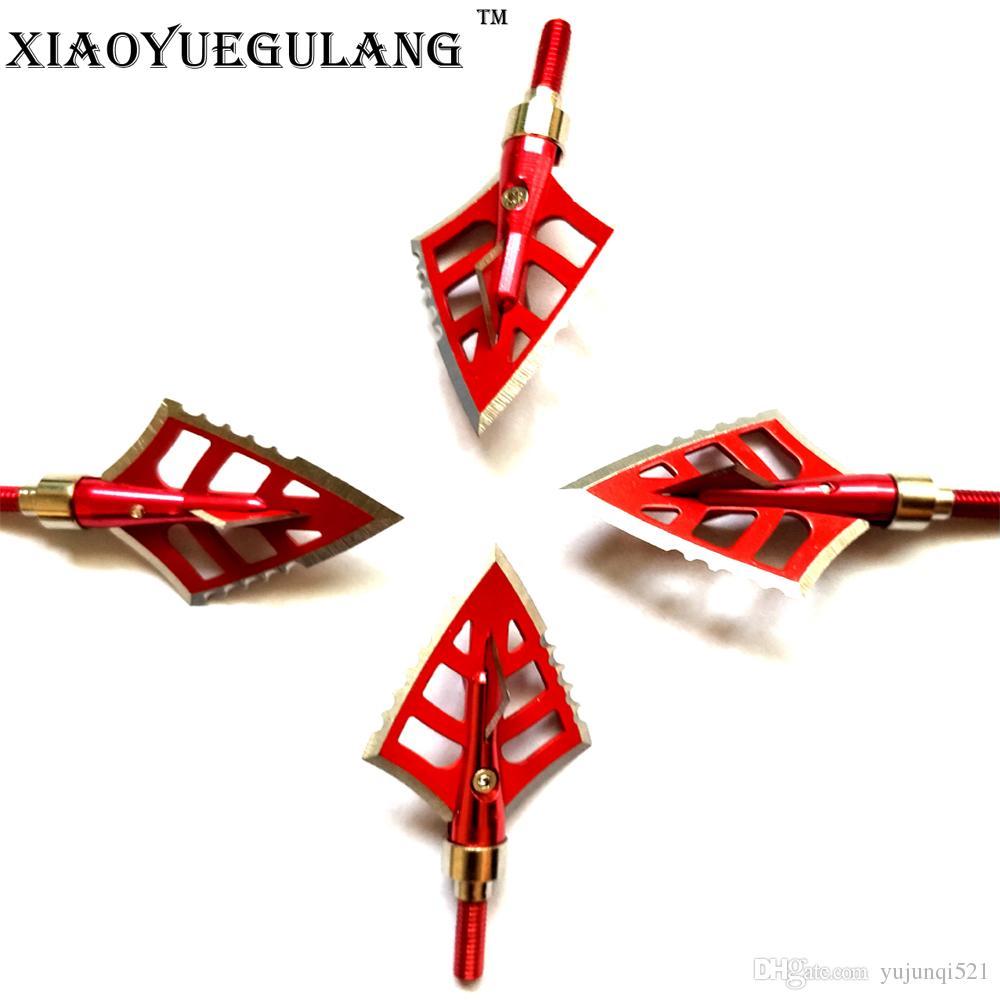 New Hot Seller Broadheads arrow acessórios Em 100/125 fio de grão seta de caça tiro com arco vermelho para arco de caça.