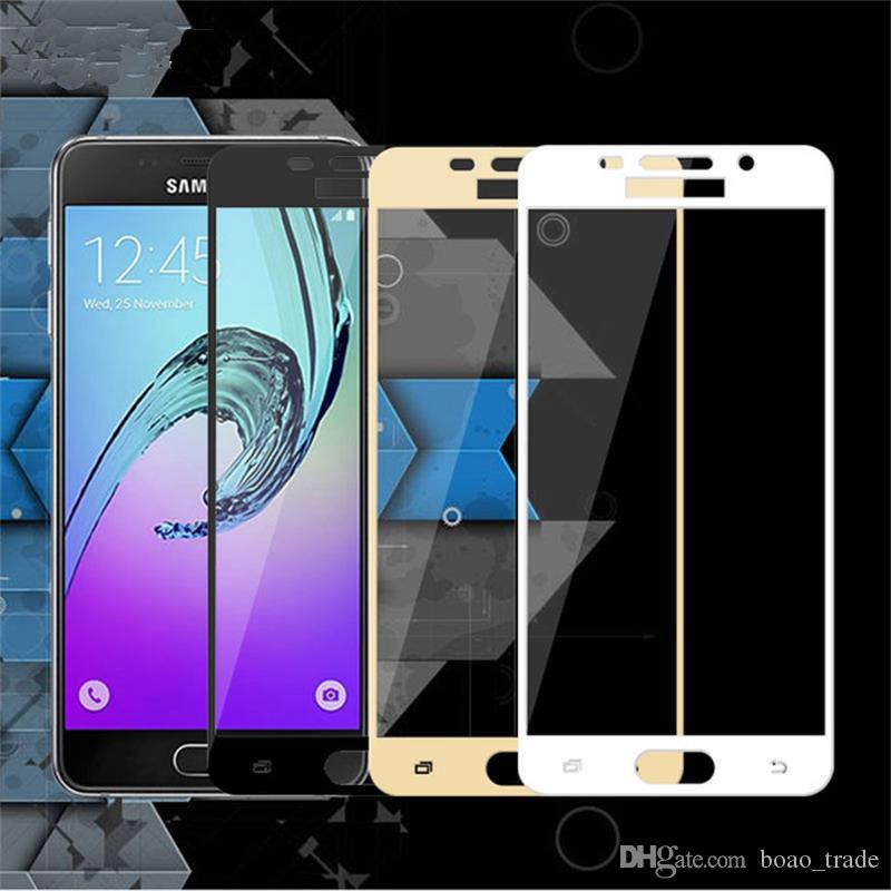 Full Cover Screen Protector for Samsung Galaxy A3 A5 A7 2017 A320 A520 A720 9H Tempered Glass Film A520F 320F A720F