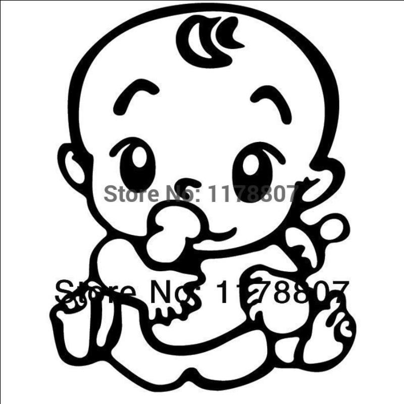 HotMeiNi Wholesale 20pcs/lot BABY ON BOARD CHILD IN CAR Vinyl Sticker for Car Rear Windshield Truck SUV Auto LaptopSexy Baby in Car
