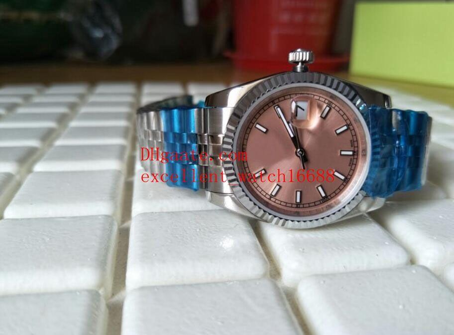 Orologi di lusso di moda Data solo 36 mm 279174 Dial rosa Asian 2813 Automatico Meccanico in acciaio inox orologio da polso da donna in acciaio inox