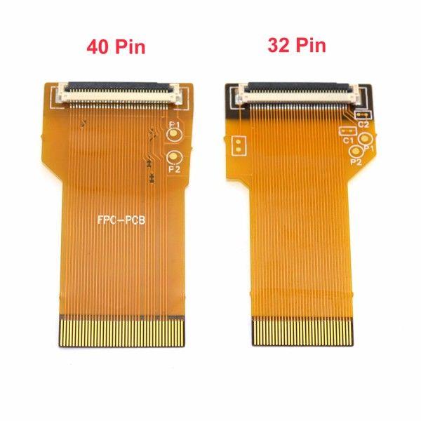32pin 40pin DIY Podświetlenie Podświetlenie LCD Ribbon Kabel Podświetlony Ribbon Adapter dla GBA Spr ekran do gry Boy Advance DHL Fedex EMS Bezpłatny statek