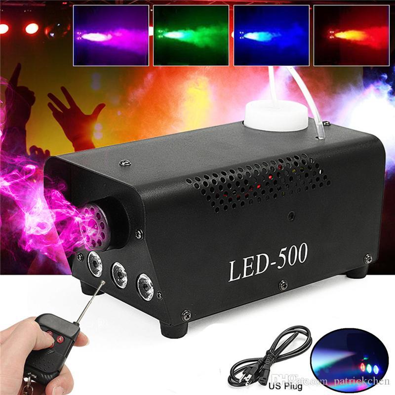 Máquina de humo inalámbrica de alta calidad del control LED 500W / máquina de humo del RGB LED / eyector de humo profesional de la etapa 500W de LED Fogger